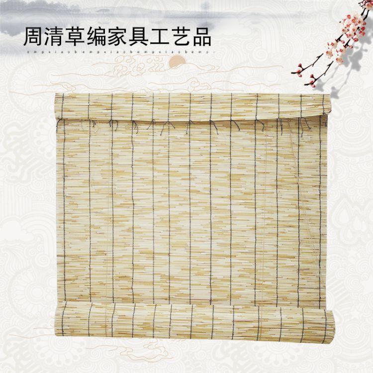 厂家生产定制现货遮阳门帘夏季芦苇编织芦苇帘室内草编帘碳化帘子