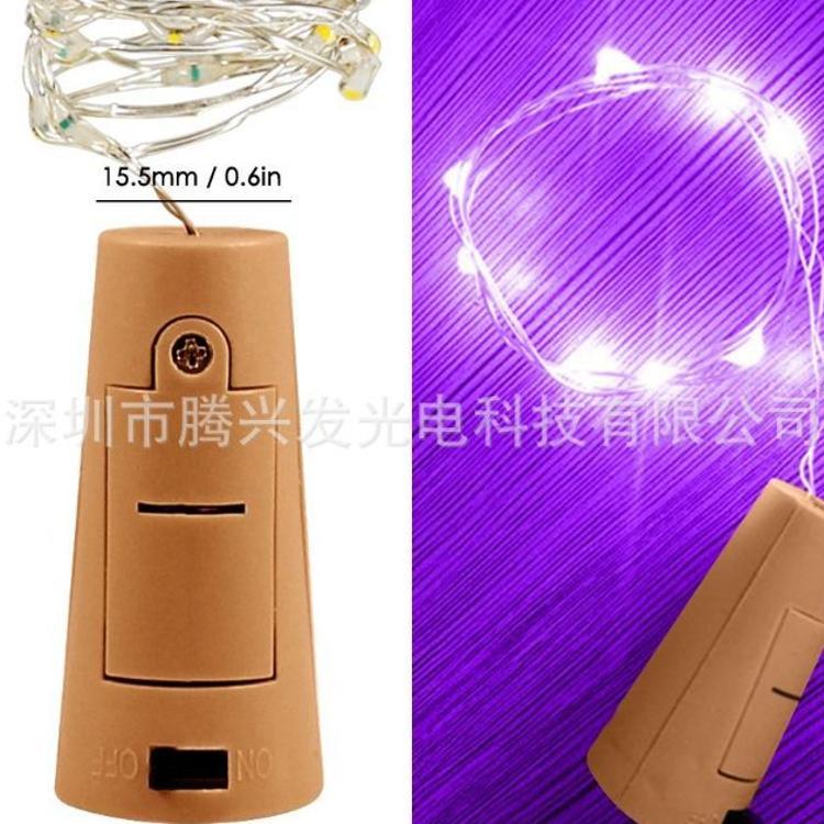 新品迷你瓶塞灯串LED铜线灯酒瓶塞装饰灯串3米30灯工艺串灯纽扣灯