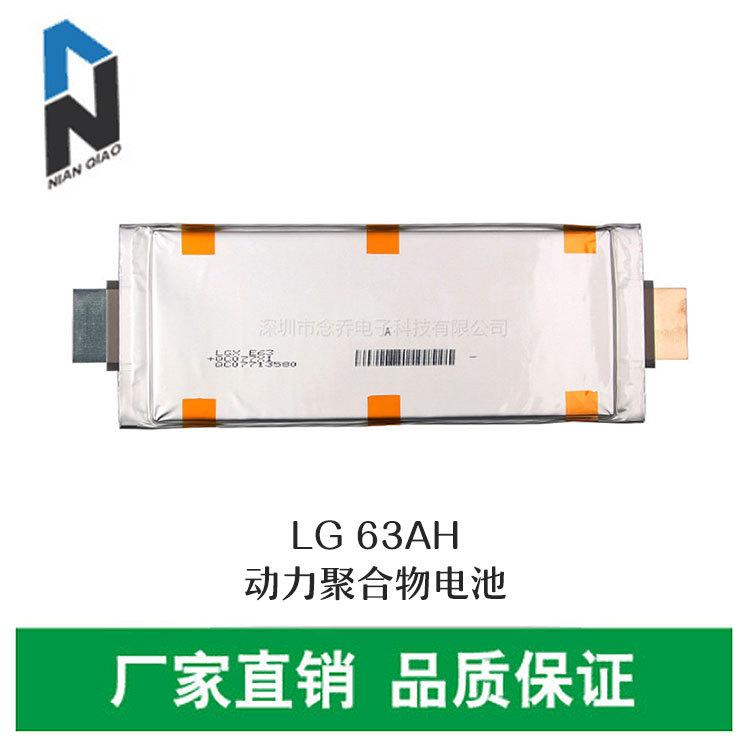 LG动力电芯63Ah动力聚合物电池电动车锂电池3.6V电动工具电池专用