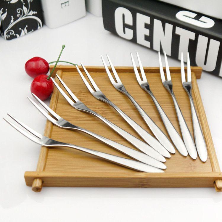 厂家批发不锈钢水果叉两齿叉不锈钢西餐刀叉月饼叉不锈钢餐具