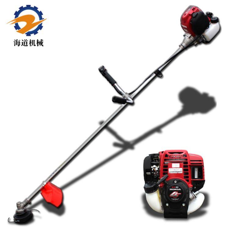 海道割灌机四冲程汽油割草机小型收割机草坪打草机本田GX35动力