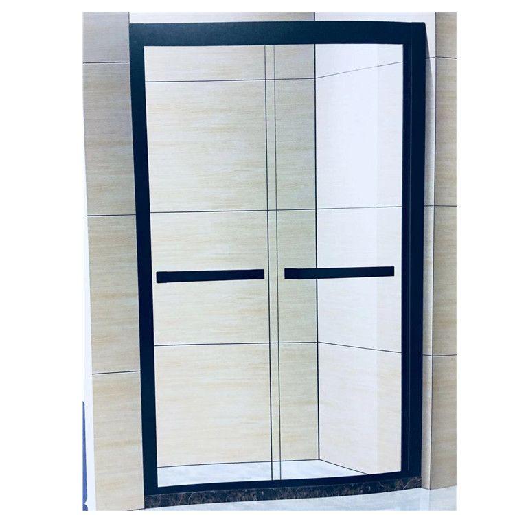 定做一字淋浴房不锈钢隔断简易整体扇形钻石型蒸气房家装淋浴室款