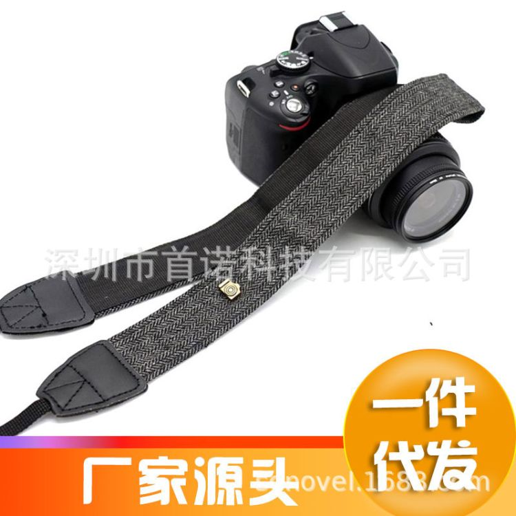 单反相机背带 通用背带适用于宾得尼康佳能挂脖肩带棉质背带皮革