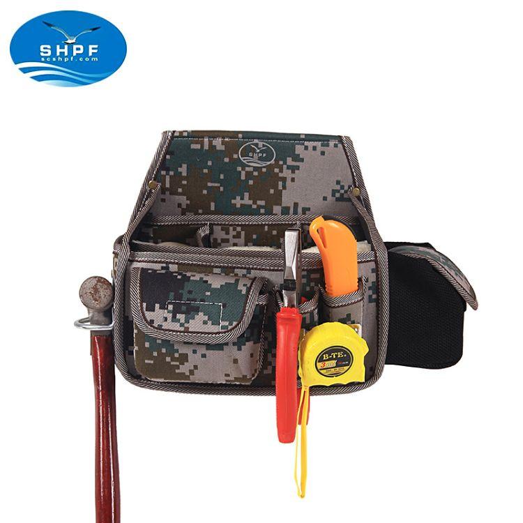 工具腰包 定制工具包 迷彩帆布电工包 多功能工具腰袋 一件代发
