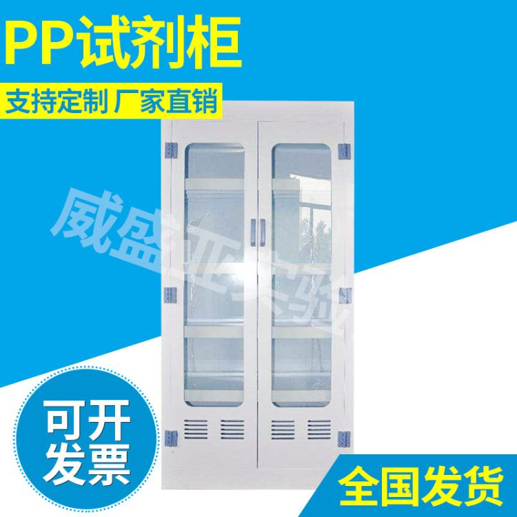 耐酸碱pp通风试剂柜 实验室样品试剂柜化学防腐蚀试剂柜 PP药品柜