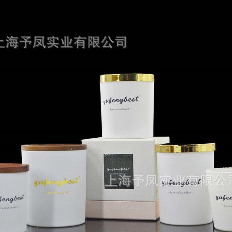 专业生产玻璃香氛蜡烛台配盖子礼盒套装 玻璃蜡烛杯家居节日礼品