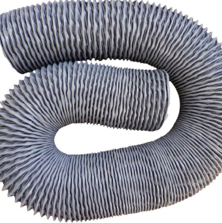 加厚尼龙布风管耐高温阻燃通风软管油烟机排风伸缩尼龙布软管
