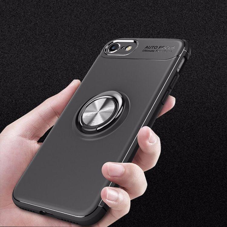 新款 iPhone8磁吸支架手機殼 蘋果8plus金屬指環tpu車載保護套