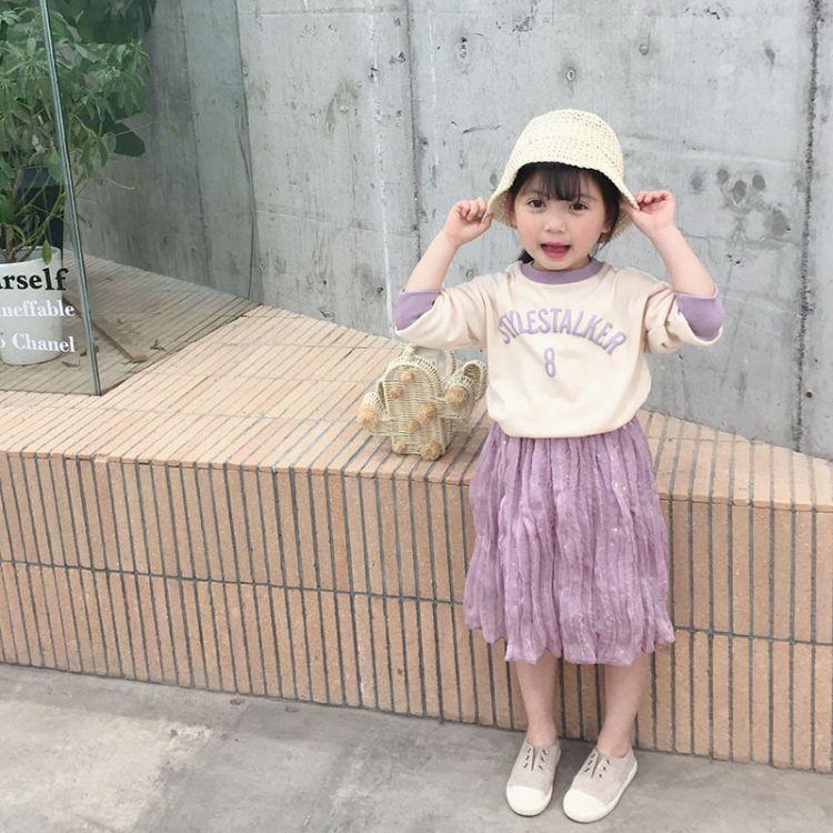 2019春季新款女童卫衣 韩版女宝亮晶晶上衣2-3-4-5-6岁洋气童装潮