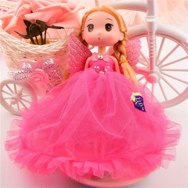 18公分多层婚纱芭比娃娃挂件新芭比娃娃玩具带翅膀芭比娃娃挂件