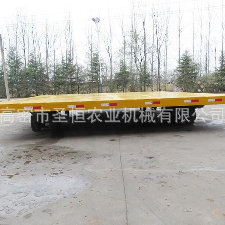 牵引拖车 平板拖车 工业平板牵引拖车 厂家定做 运输设备