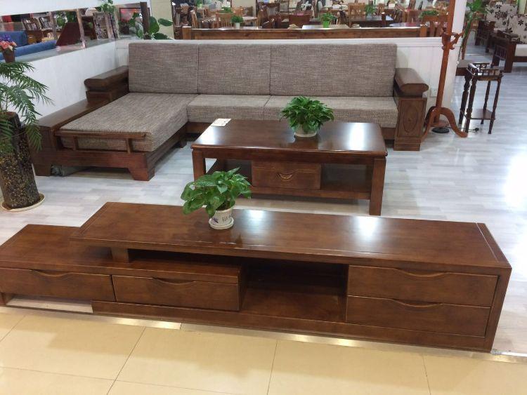 三杉实木沙发 实木转角沙发 实木贵妃沙发 实木框架沙发