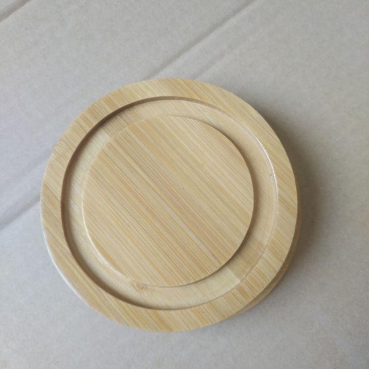 厂家定制批发 简约木制杯盖 实木木质工艺品杯盖底座手工定制竹木