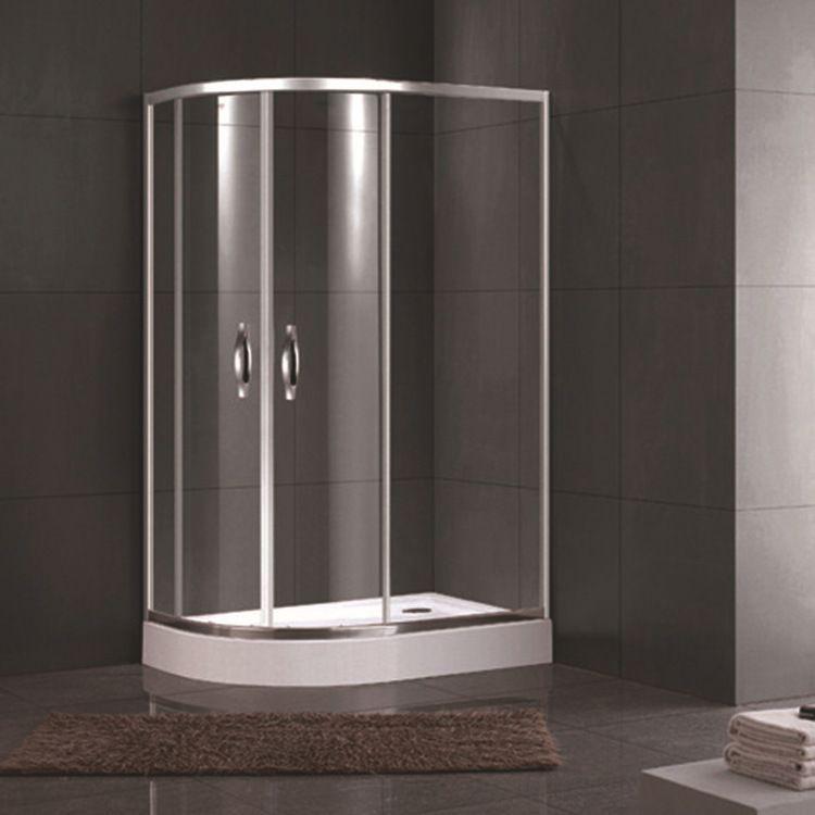 埃帝利简易淋浴房厂家直销家用工程卫生间扇形钢化玻璃淋浴房