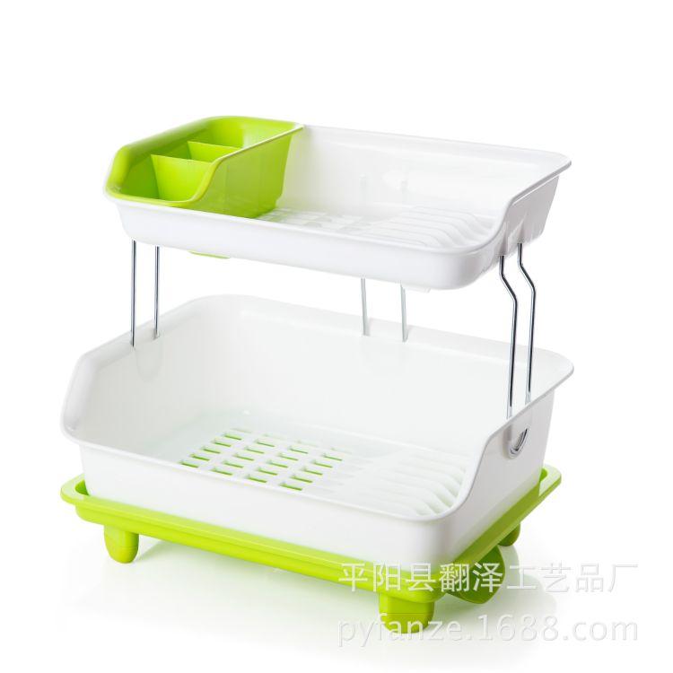 沥水架-韩国沥水架-双层沥水槽-厨房收纳架-碗碟收纳架