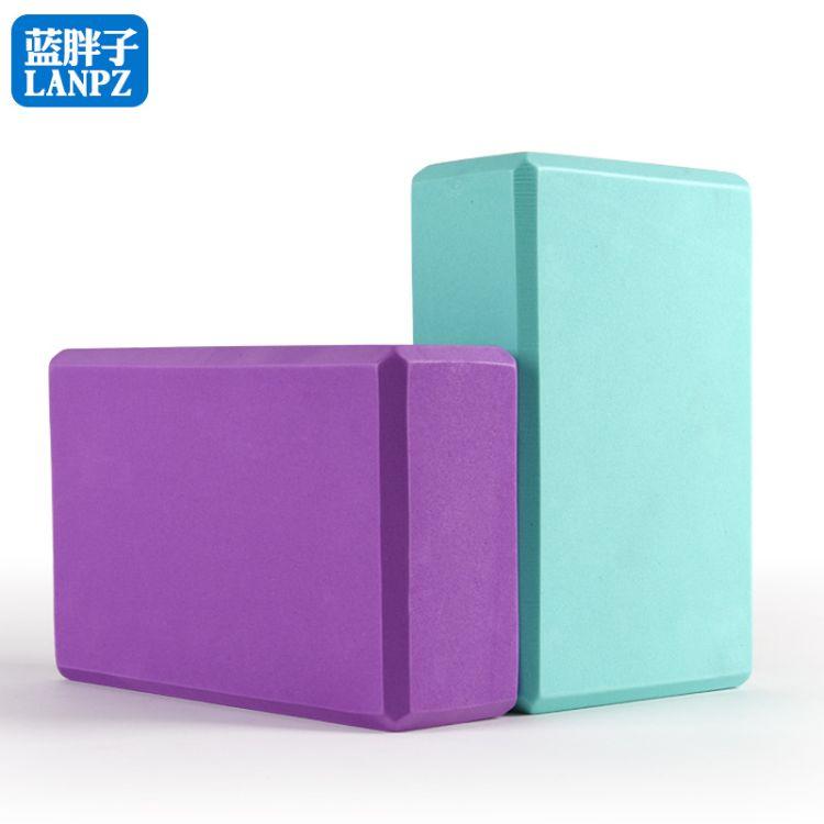 高密度eva环保加厚瑜伽砖 发泡eva瑜伽健身砖 舞蹈瑜珈砖5色一件