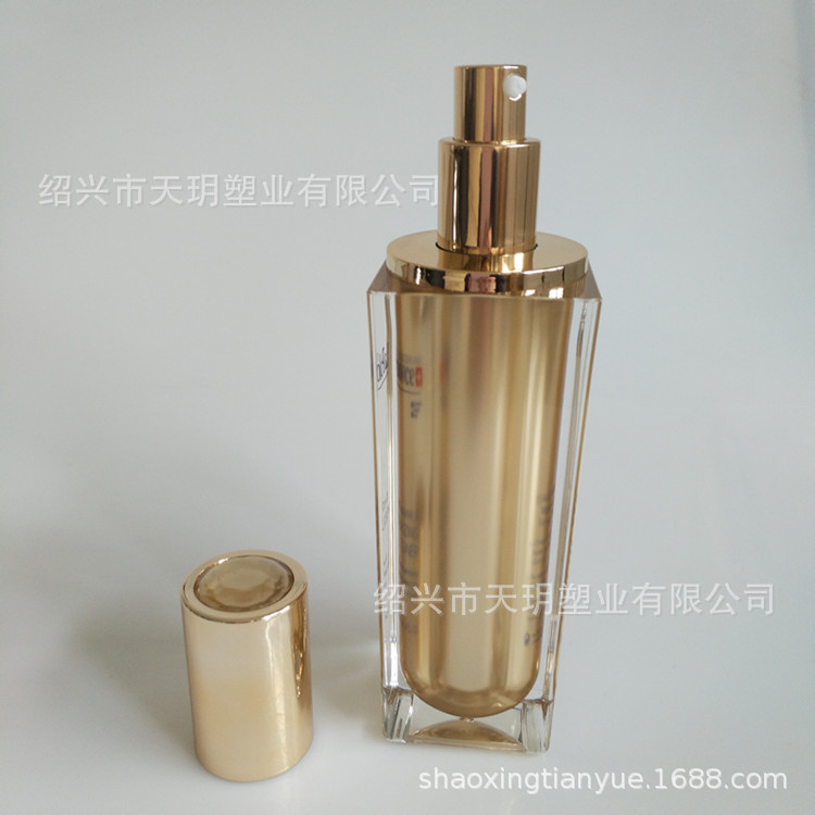 钻面大方瓶 水乳瓶120ml乳液瓶 护肤品包材 亚克力乳液瓶