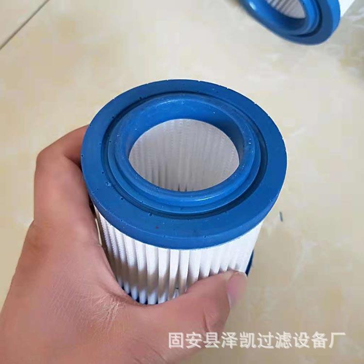初效滤芯PU胶盖透气滤芯 替代空压机空气滤芯 聚酯网折叠滤芯