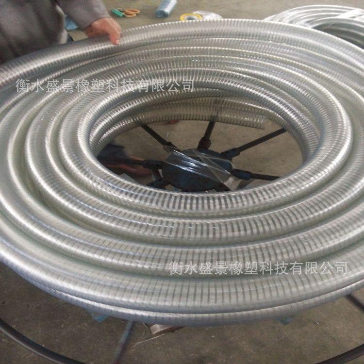 钢丝管 透明pvc管厂家 pvc透明软管 pvc钢丝增强软管