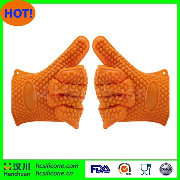 硅胶手套 出口硅胶隔热手套 硅胶BBQ手套 硅胶烤箱手套 防滑手套