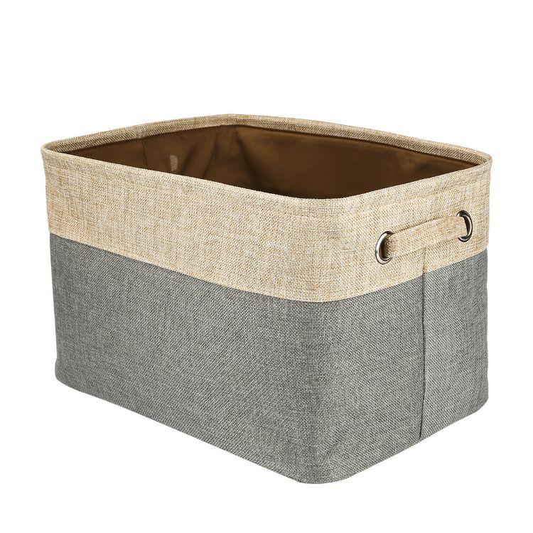 現貨 可折疊日式棉麻布藝收納籃衣服收納箱玩具儲物盒汽車收納箱