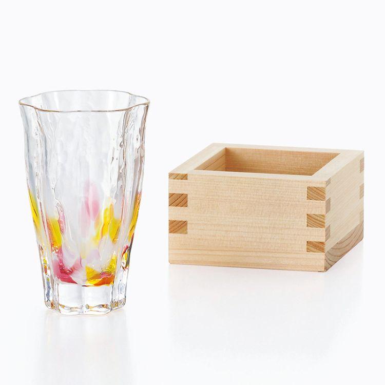 日本进口玻璃杯津轻酒杯 日式杯子手工精品玻璃鸡尾酒杯子��酒杯