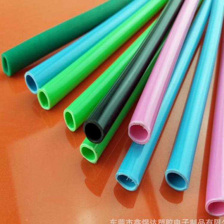 直供 PVC透明彩色塑料管 PVC电线套管水平管手袋提带
