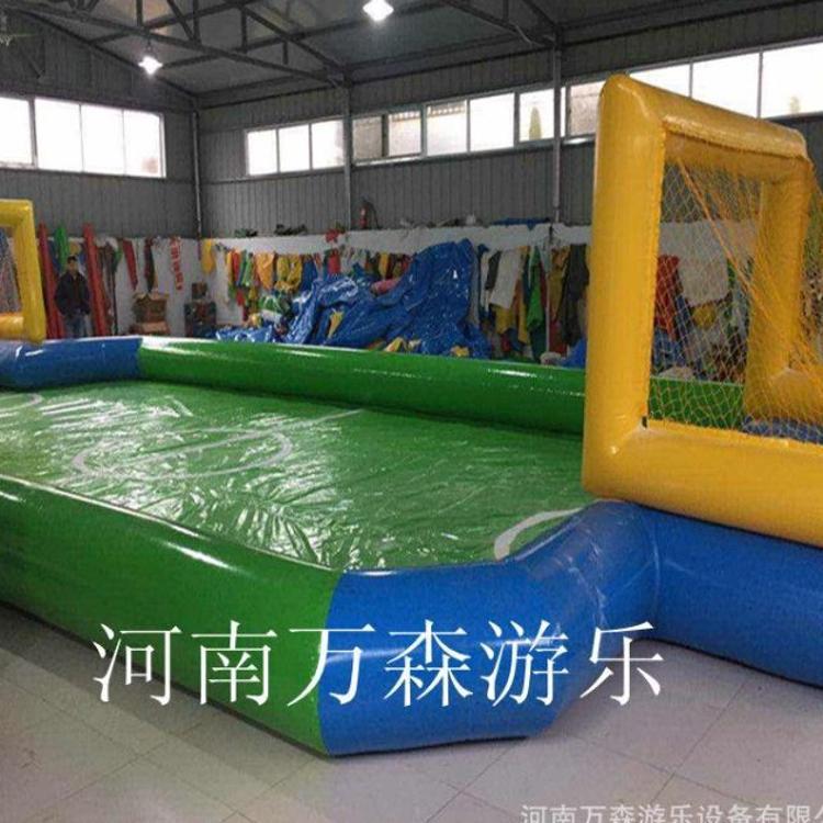 厂家直销充气水上足球场 充气排球场 pvc足球场 移动水上乐园