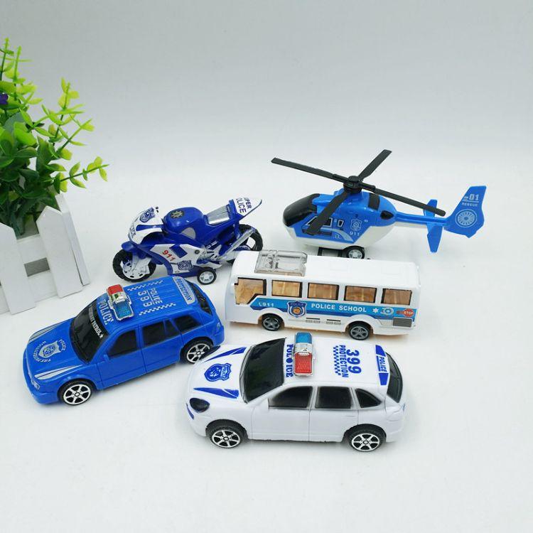 儿童玩具特警车模系列交通玩具 强劲回力功能399-350