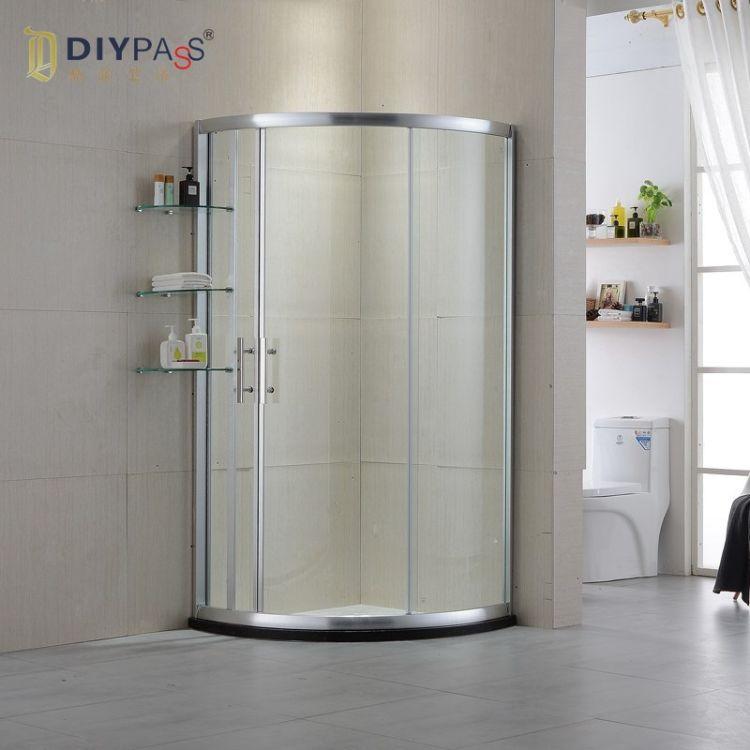 厂家直销 钢化玻璃淋浴房 弧扇形简易淋浴房 定制酒店创意淋浴房