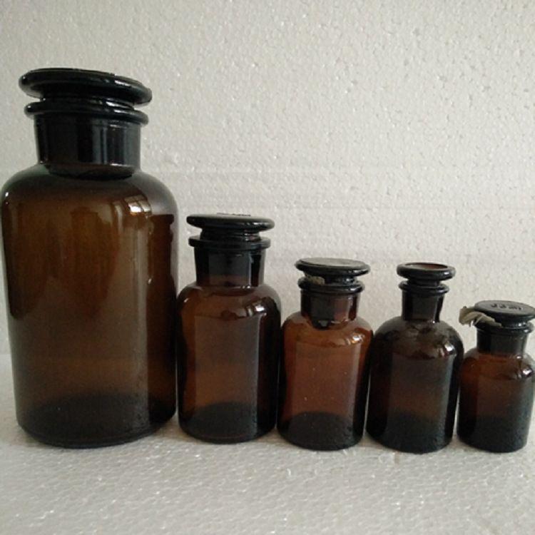 厂家批发500ml玻璃瓶棕色广口试剂瓶药用瓶1000ml磨口瓶