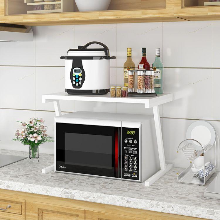 2018新款厨房收纳架 微波炉置物架 落地烤箱架厂家直销批发
