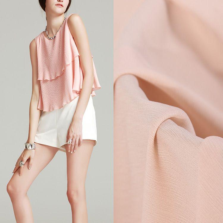 厂家直销 新款哈密瓜绉面料 全涤雪纺时装用布连衣裙半身裙面料