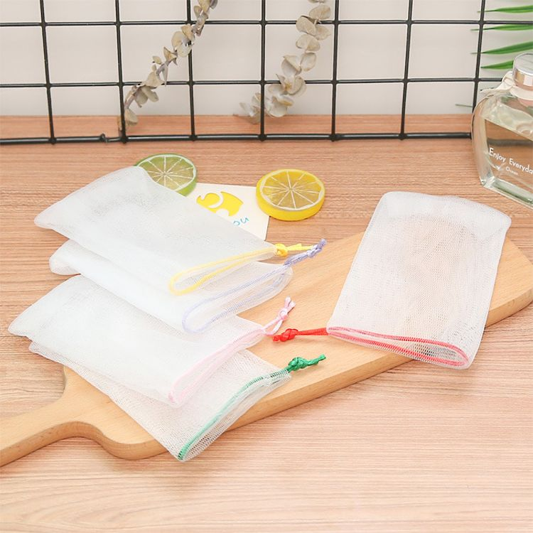 洗面奶手工皂起泡网香皂袋肥皂网收纳洗脸沐浴皂网袋 洁面打泡网