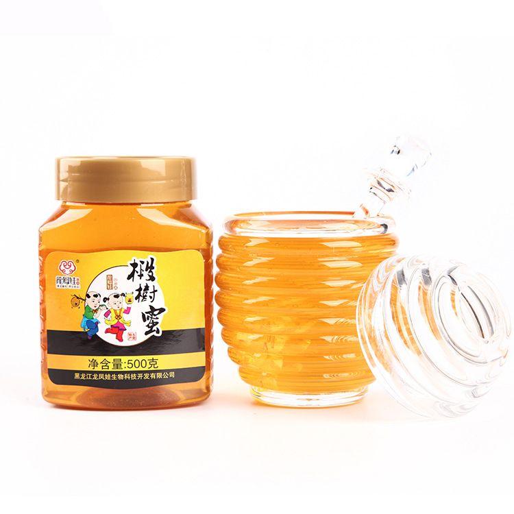 厂家直销东北土蜂蜜椴树蜜 500g瓶装农家成熟椴树蜂蜜批发