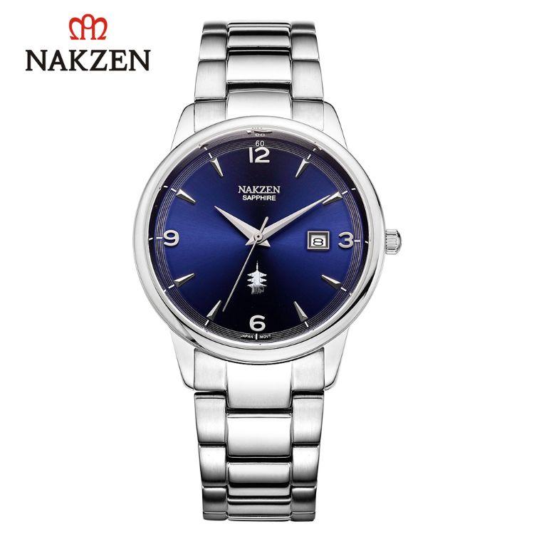 NAKZEN石英表商务防水超薄手表防水男士钢带高品质手表男SS1006G