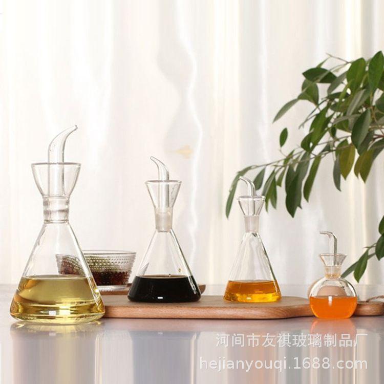 厨房用品家用大小号高硼硅玻璃油壶酱油醋调味料瓶油罐油瓶防侧漏