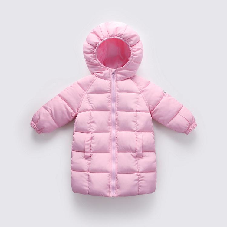 儿童羽绒棉服加厚中长款男童棉衣女童棉袄小孩婴幼儿冬季宝宝童装