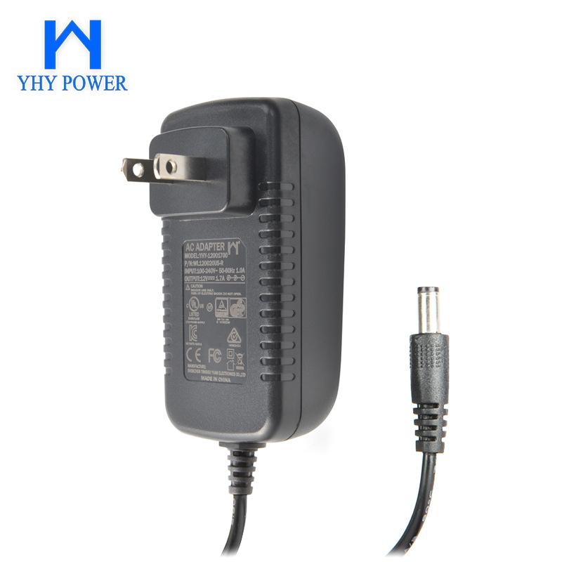 12v1.7a安防监控通用电源 20w足功率直流稳压电源适配器