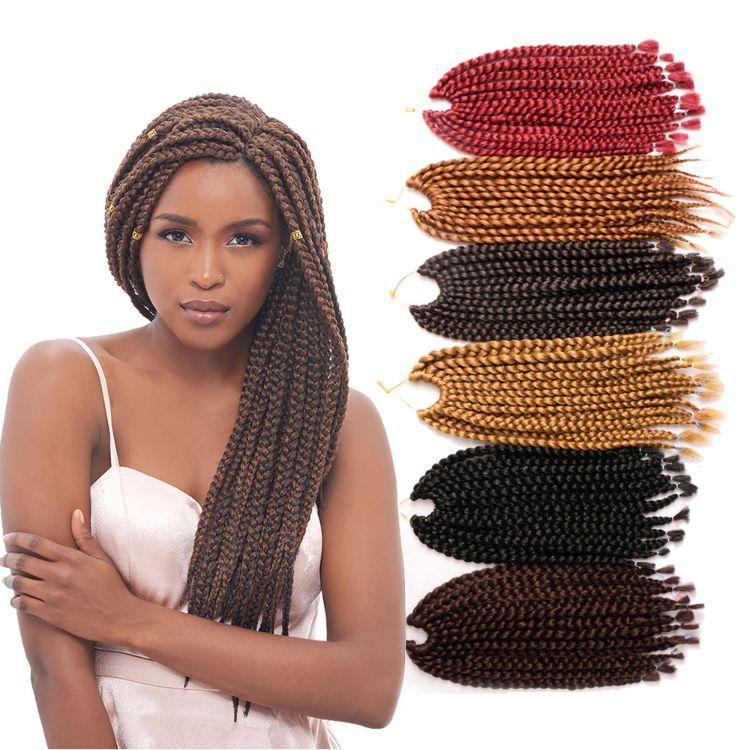 三股辫假发Cubic Twist Crochet Braids Hair 3D非洲黑人脏辫接发