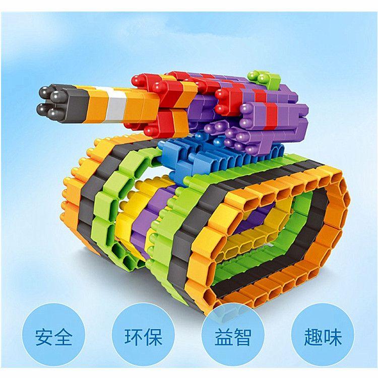 儿童益智启蒙玩具数字雪花片子弹头钻石颗粒百变拼插积木幼教玩具