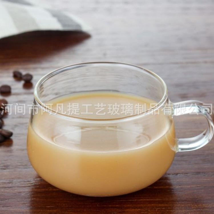 高硼硅玻璃咖啡杯 马克杯 时尚把杯耐高温玻璃杯定制logo