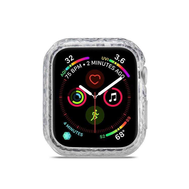 適用于蘋果apple watch4鉆石紋保護套蘋果手表4薄軟鉆石紋TPU殼