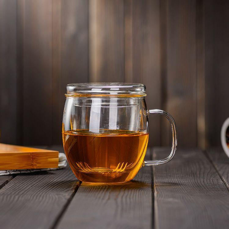 玻璃杯定制 玻璃茶杯 花茶杯 高硼硅玻璃 耐高温 手工制品 爆款