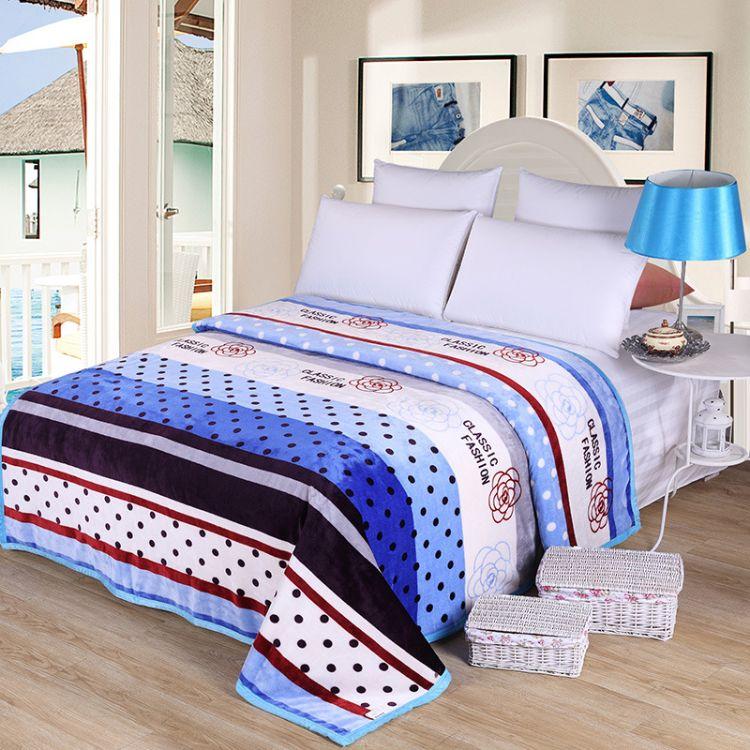 雪貂绒批发  加厚保暖床单法兰绒折叠毯盖毯 冬季长毛珊瑚绒毯子