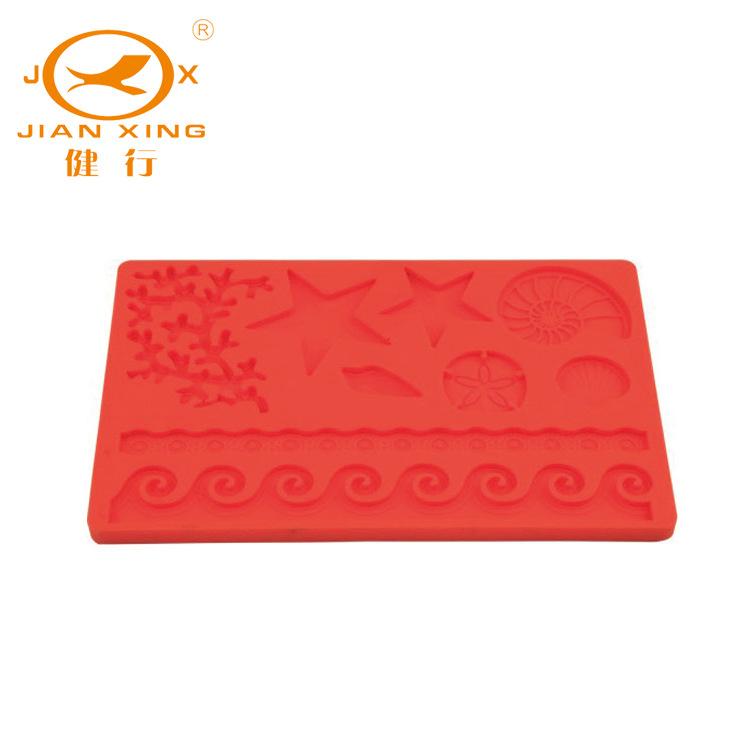 红色食品级硅胶模具 翻糖模JX-C217 硅胶厨具用品 厂家直销 批发