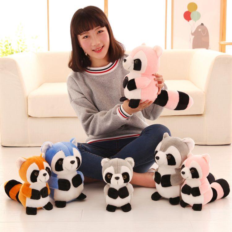 厂家批发可爱小浣熊公仔毛绒玩具玩偶布娃娃抱枕婚庆公司礼品