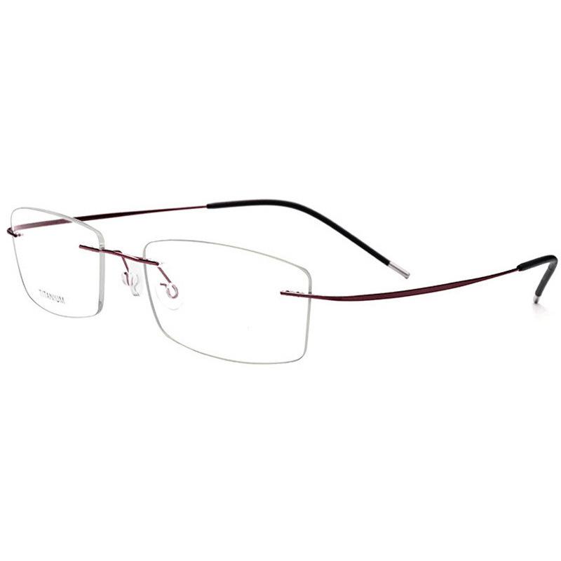 亞馬遜熱銷男女款眼鏡框無框鈦合金近視眼鏡架超彈防滑防藍光配鏡