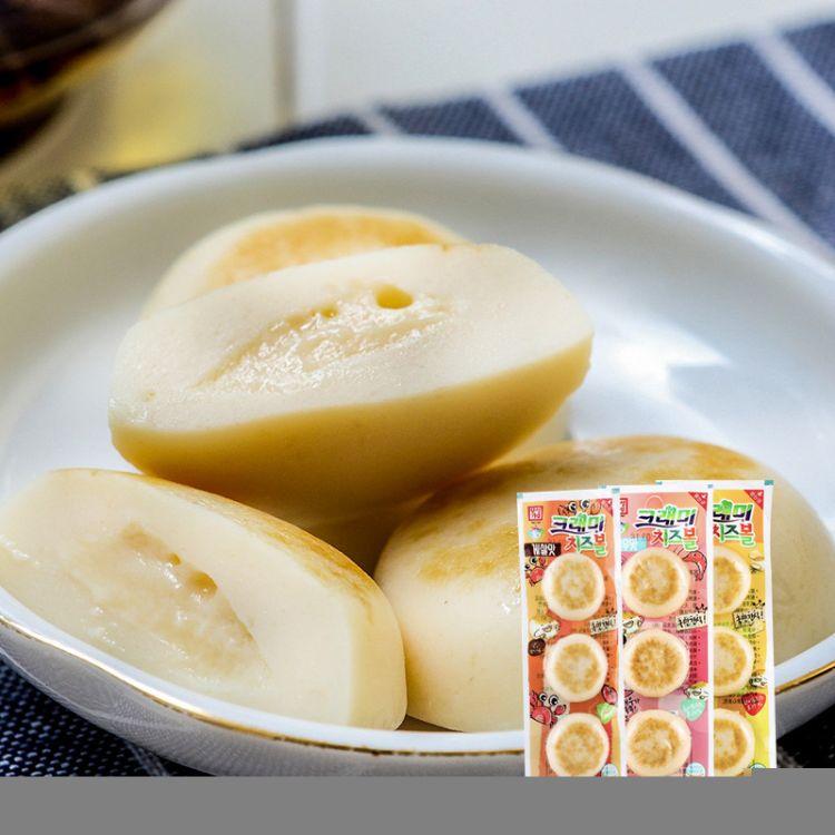 韩国进口零食原味蟹味虾味奶酪鳕鱼饼即食海鲜36g