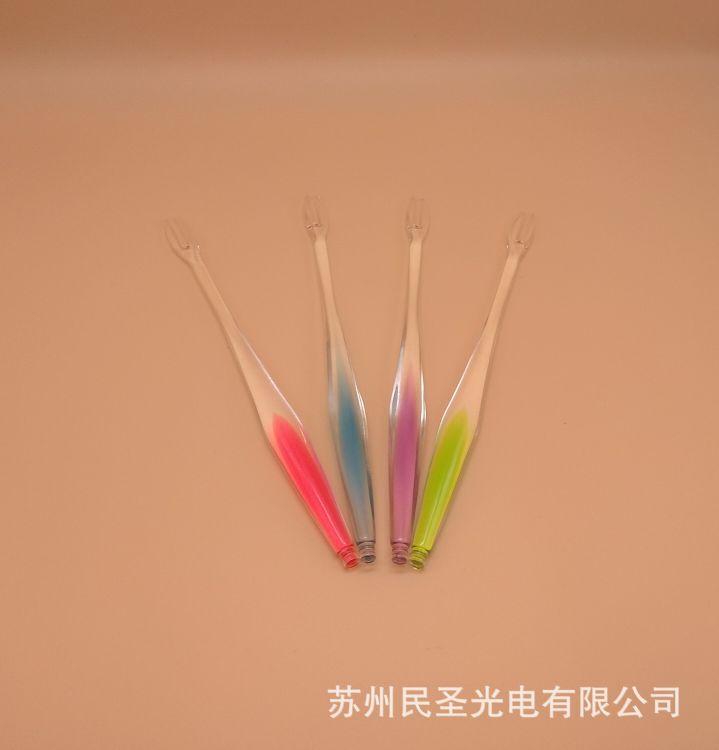 韩国水果叉 各种颜色的水果叉 安全卫生水果叉 使用方便 水果叉
